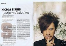 Coupure de presse Clipping 2011 Nicola Sirkis Indochine   (6 pages)