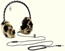 NIB Juicy Couture Leopard Faux Fur Glamour Girl Earmuff Headphones in Gift Box