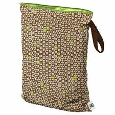 New Planet Wise Cloth Diapers Reusable Wet Bags Size Large Lime Cocoa Bean