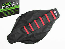 HONDA CRF250 CRF250R 2007 2008 2009 RIBBED SEAT COVER BLACK WITH RED STRIPES MX
