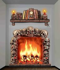 Haunted Fireplace Scene Setter 2 Giant Haunted Wall Decorations Halloween