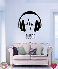 Wall Stickers Vinyl Decal Headphones Music Beats z1184