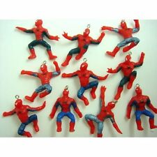 Spiderman Spider-man Jewelry Making Mini Action Figures Pendant Charms X 10