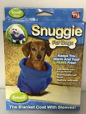 Snuggie For Dogs ~ Small ~Blue