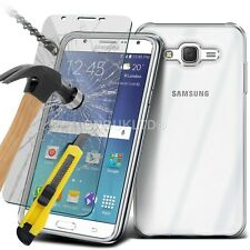 Clear Ultra Thin Slim Gel Case and Glass Screen Protector for Samsung Galaxy J5