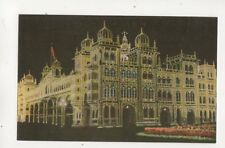 Illuminated Palace Mysore India Postcard 292b
