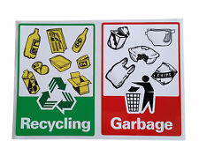 Rubbish bin Garbage & Recycle Sticker Decals (Pair)