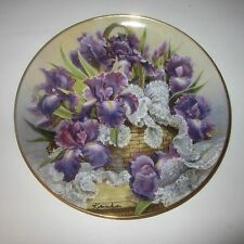 Mogambo Iris Plate by Katharine Austen Franklin Mint Princess Grace Foundation