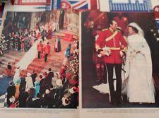 RECORTE PRINCESA ANA DE INGLATERRA CAPITAN MARK PHILLIPS ROYAL WEDDING BODA REAL
