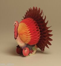 "LARGE 12"" INCH PAPER TURKEY DECORATION CENTER PIECE TABLE DECORATION NIP"