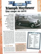 Triumph Mayflower 1949  Great Britain Grande Bretagne Car Auto FICHE FRANCE