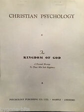 Christian Psychology Publishing Kingdom of God  Booklet 1950's