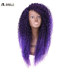 Noble Afro Kinky Curly Synthetic Wigs African American Wigs Long Ombre Purple
