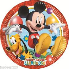 8 Mickey Mouse Playful Paper Plates Party Tableware Birthday Kids Disney Boy