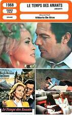 FICHE CINEMA : LE TEMPS DES AMANTS - Dunaway,Mastroianni 1968 A Place for Lovers