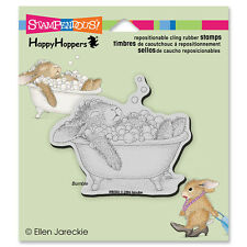HOUSE MOUSE RUBBER STAMPS CLING HAPPY HOPPERS BUBBLE BATH STAMP