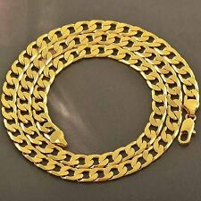 Arab Fashion 9K Yellow Solid Gold Filled Mens link Long Chain Necklace 24 Inches