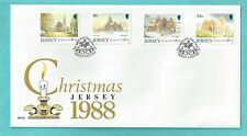 Jersey CI Channel Islands First Day Cover FDC 1988 Christmas Noel Weihnachten