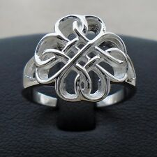 925 Sterling Silver Celtic Infinity Eternity Ring Size 7 Uni Hall Solid Unbr New