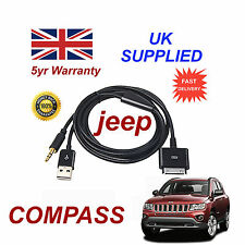 Jeep Compass Adaptador Multimedia Iphone 3gs 4 4s Ipod Usb Y 3.5 mm Cable Aux Blk