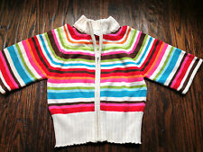 Gymboree Girls Winter Cheer Stripe Cotton Sweater Cardigan and Hat Size 5/6