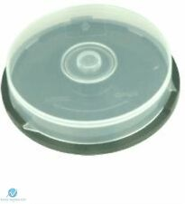 1 CD DVD Plastic Cake Tub holds 10 Disks Spindle Storage Box Empty NEW Case