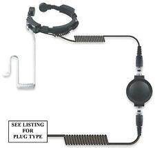 KENWOOD HEAVY DUTY THROAT MIC WITH ACOUSTIC TUBE EARPIECE -PROTALK TK3201 TK3301