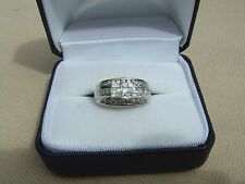 vintage estate ladies 14k white gold .95ctw diamond ring size 7 1/4 fine jewelry