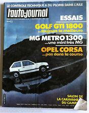 b)AUTO JOURNAL du 15/11/1982; Essais/Golf GTI 1800/MG Metro 1300/ Opel Corsa