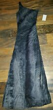 CITY TRIANGLES Prom Formal Homecoming Dress Tight Long Black Gray Sparkles SMALL
