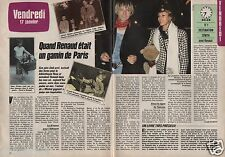 Coupure de presse Clipping 1986 Renaud  (2 pages)
