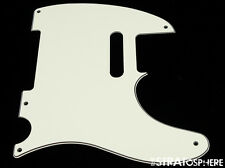 *NEW Parchment Telecaster PICKGUARD for Fender USA Vintage Tele 3 Ply 5 Hole