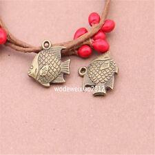 10pc Antique Bronze Bead Charms FISH Pendant Accessories wholesale PL476