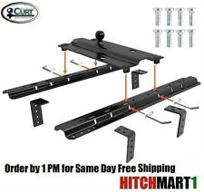 CURT 25K Bent Plate Gooseneck Trailer Hitch w/ 5th Wheel Universal Rail  2-5/16