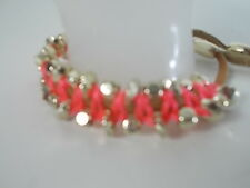 Banana Republic PInk String Gold Stud Tan Suede Friendship Bracelet NWOT $39