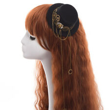 Girl Steampunk Skull Gear Hair Clip Mini Top Hat Punk Head Wear Hair Clip Lolita