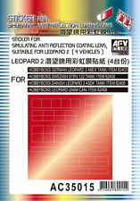 AFV Club 1:35 Scale Anti-Reflection Coating Lens Sticker for Leopard 2 AC35015