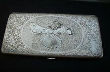 Japan  Zigarettenetui  Geisha   Silber  STERLING  950   Japanese cigarette case