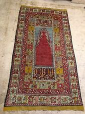 Antique Islamic Turkish Hand Woven Prayer Rug