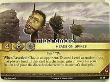 A Game of Thrones 2.0 LCG - 1x Heads on Spikes  #013 - Base Set - Second Edition
