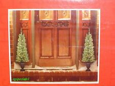 SET OF 2 PRELIT/PRE-LIT 4.5 FT HIGH TOPIARY/PORCH TREES~70 LIGHTS, 187 TIPS