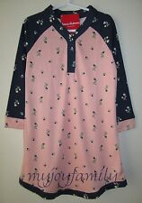 HANNA ANDERSSON Dreamy Poly Henley Nightie Nightgown Pajamas Pink 110 5 NWT