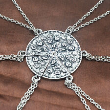 Set of 6 Pizza Slice Friendship Necklace Best Friends Jewelry Family Charm