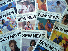 1986 Sew News The Fashion Magazine Full Year of Books in Yellow Plastic Binder