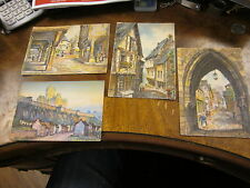 Vintage post cards un unused quebec canada lot of 4