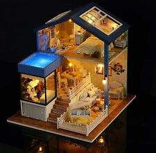 Dollhouse Miniature DIY Kit Dolls House with Furniture Gift craft Toy Seattle