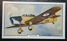 Miles Magister  RAF Light Trainer  Original  Vintage Colour Card   VGC