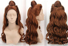 Disney Anime Wig Beauty and the Beast Princess Belle Cosplay wig (cure, long)