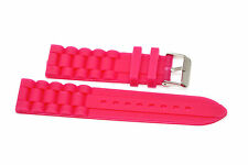 22MM HOT PINK SILICONE RUBBER SPORT WATCH BAND STRAP FITS FOSSIL
