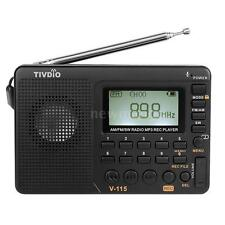 TIVDIO Digital Portable LCD Receiver TF MP3 REC Player AM FM SW Full Band Radio